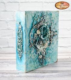 Mixed-media binder created by Ola Khomenok