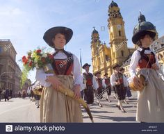 Europe Germany Munich Beer Festival Oktoberfest Colorful Traditional Stock Photo, Royalty Free Image: 2579654 - Alamy