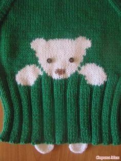 Недавно показывала один свитер с мишкой http://www.stranamam.ru/ теперь второй, с белым мишкой. Так получилось, что у меня два знакомых маленьких Миши.
