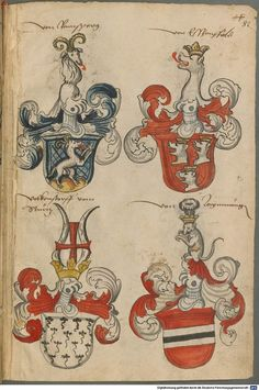 Wappen deutscher Geschlechter Augsburg ?, 4. Viertel 15. Jh. Cod.icon. 311  Folio 82r