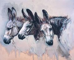 These creatures, the humble donkey, should be honoured everywhere, showered with thanks for their labours on our behalf and blessed with human companions capable of compassion. Donkey Drawing, Photo Animaliere, Barnyard Animals, Farm Art, T Art, Equine Art, Horse Pictures, Watercolor Animals, Vintage Artwork