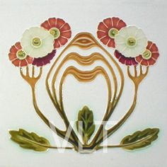 Art Nouveau Reproduction Tile #69, from Villa Lagoon Tile