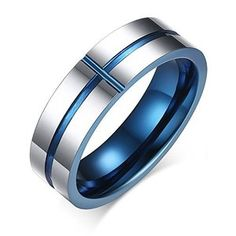 Cheap luxury wedding rings, Buy Quality wedding rings directly from China ring for Suppliers: wide Cool men Ring fashion Cross blue Tungsten Jewelry luxury Wedding Rings for men women US size bague fashion aneis Tungsten Jewelry, Tungsten Carbide Rings, Quilling Jewelry, Cross Jewelry, Men's Jewelry, Fashion Jewelry, Silver Jewelry, Emerald Jewelry, Fashion Rings