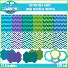 """The ocean is my favorite place to be, and it inspired the colors for this updated freebie.  It includes:  ~ 6 """"Waves"""" digi papers ~ 6 """"Funky Chevro..."""