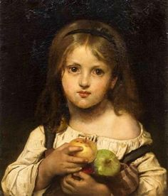Girl With Apples Léon Bazile Perrault (1832 – 1908, French)