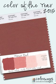 "Pantone Color for 2015= ""Marsala"" Annie Sloan Chalk Paint Primer Red COLORWAYS at www.LeslieStocker.com"
