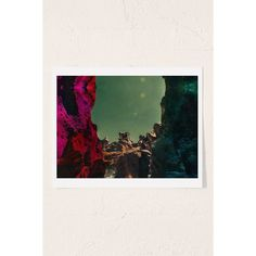 Alexandra Valenti Fossil Falls Art Print (25 CAD) ❤ liked on Polyvore featuring home, home decor, wall art, textured wall art, motivational wall art, urban outfitters, landscape wall art and texas wall art