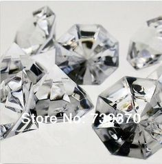 5000 4.5mm Clear Acrylic Diamond Crystal Confetti Table Scatter Gems Centerpiece Favors Wedding Decor Party Decorations