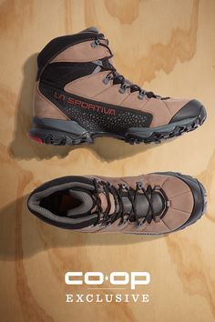 Move fast, light and dry on the trail in the men's La Sportiva Nucleo High GTX hiking boots. They have Gore-Tex® Surround Technology to keep out the rain while allowing optimum breathability. The durable leather uppers provide great support and a comfortable fit, and the Vibram® Nano rubber out-soles give you solid traction and grip with every step. Stay dry and comfortable on long hikes when you pick up a pair of Nucleo High GTX boots.
