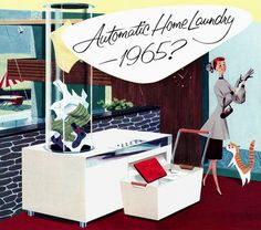 Automatic Home Laundry - 1965? Art by Fred McNabb.