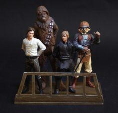 Han, Luke e Chewie Retorno       De Jedi action figures