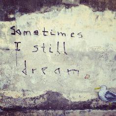 "Graffiti - Sometimes I Still Dream - Penang, Malaysia (8x8"" Photo on Canvas) // $40"