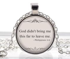 Bible Verse Jewelry  Christian Bible Quote Necklace  by JHGifts, $12.95