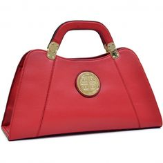 Dasein® Emblem Flat Bottom A-Symmetrical Handbag with Removable Shoulder  Strap - fashlets. 3479c8e49472f