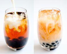 Milk Tea Boba - with boba (pearl tapioca).