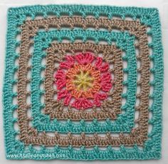 "Vincent - 12"" afghan square - free crochet pattern by Esther Dijkstra at It's all in a Nutshell. In 12 languages plus video."