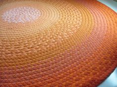 Bright Orange Rug by Green At Heart modern rugs
