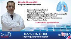 Uzm.Dr.Murat ARUL -Solunum Fonksiyon Testleri -Fiberoptik Bronkoskopi -Uyku İle İlgili Solunum Bozuklukları (Polisomnografi) -Göğüs Hastalıkları Yoğun Bakım Ünitesi -KOAH, Astım ve Diğer Solunum Hastalıklarının Tanı ve Tedavi Hizmetlerini hastanemizde uygulamaktadır.