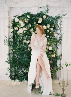 romantic bridal inspiration - photo by Kurt Boomer http://ruffledblog.com/enchanted-garden-bridal-inspiration