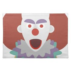#Clown Terror Halloween Chilling Look Monster Placemat - #halloween #party #stuff #allhalloween All Hallows' Eve All Saints' Eve #Kids & #Adaults