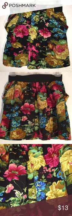 Floral Skirt with Pockets Like new Poetry Skirts Mini
