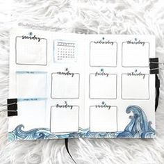 journal ideas for students New month, new theme! I hope you will like it 🌊🌊🌊 . Bullet Journal Weekly Layout, March Bullet Journal, Bullet Journal Notebook, Bullet Journal Themes, Bullet Journal Spread, Bullet Journal Inspiration, Bullet Journal Calendar Ideas, Journal Ideas, Neuer Monat
