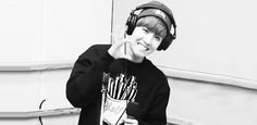 J-Hope [BTS] GIF  In the Just One Day live on radio video.