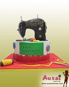 Sewing machine cake!!!