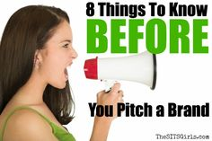8 Things to know before Pitching a brand