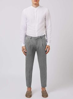 Grey Salt and Pepper Jersey Cropped Trousers