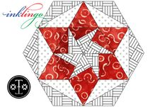 All About Inklingo » Blog Archive » Inklingo Pieced Hexagons to Color
