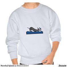 Narwhal Splash Pullover Sweatshirt