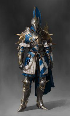 Warden crusader_unicorn set, Jonghwan Lee on ArtStation at https://www.artstation.com/artwork/QVqPB