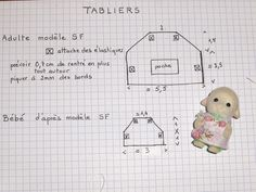 Pattern for aprons for Sylvanians.