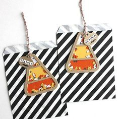 Candy Corn Shaker Tags by Heather Nichols for Papertrey Ink (August 2015)