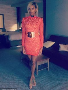 Strike a pose! Alesha also shared the details of her designer ensemble with a full length picture