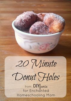 These quick and easy 20 minute donut holes will have your family singing your praises all day long! Make them for a quick weekday treat or leisurely brunch.