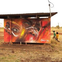 """Amazing colours! """"One of the walls that I painted in a remote indigenous community, on tour with @ihhp in the NT of Australia #adnate"""""""