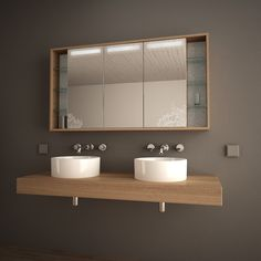 badezimmer spiegelschrank mit licht intended for inspire Mirror Cabinet With Light, Bathroom Mirror Cabinet, Mirror Cabinets, Master Bathroom, Zen Bathroom, Ikea Kitchen Wall Cabinets, Woodworking Projects Plans, Furniture Design, House