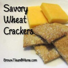 Stay away from the MSG and artificial colors in boxed wheat crackers. It's easy to make your own savory wheat crackers with 5 healthy ingredients!