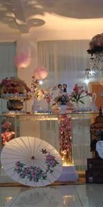 Festas - mesa de bolo temática japonesa