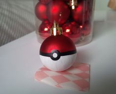 These 20 DIY Pokemon Crafts rules the weekend! - Decoration house Diy - These 20 DIY Pokemon Crafts rules the weekend! Pokemon Ornaments, Diy Christmas Ornaments, Christmas Projects, Holiday Crafts, Christmas Decorations, Pokemon Craft, Pokemon Party, Noel Christmas, Homemade Christmas