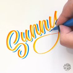 Sunny Sunny ☀️ Brush lettering by Chrystal Elizabeth Chrystal Elizabeth using Pentel Sign Brush Tip Pens - Calligraphy Worksheet, Calligraphy Drawing, Calligraphy Handwriting, Calligraphy Letters, Calligraphy Video, Calligraphy Alphabet Tutorial, Calligraphy Christmas, Calligraphy Lessons, Brush Pen Calligraphy