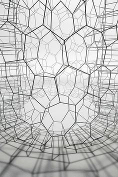 would be great as netted table tops sans glass cover ♥ Hiroshi Yoneya: 'Form' (detail), 2013 Japan / Sacred Geometry Motifs Organiques, L Wallpaper, Instalation Art, Design Graphique, Grafik Design, Sacred Geometry, Textures Patterns, Geometric Shapes, Sculpture Art