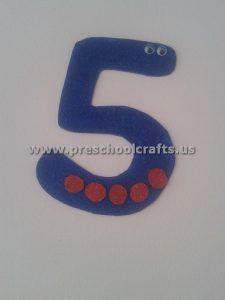 Numbers Crafts For Preschool Preschool And Kindergarten Numbers