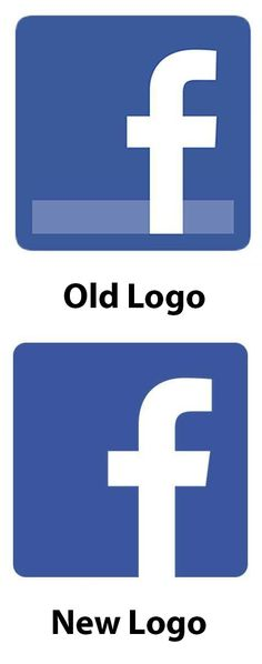facebook re-diseño su logo. @Marilyn Geraghty