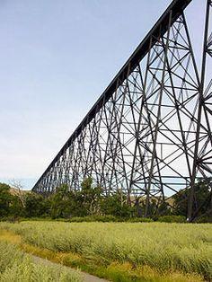 Lethbridge Viaduct aka High Level Bridge-Steel trestle bridge over the Oldman River, Lethbridge, Alberta