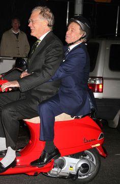Hilarious together! David Letterman  Regis Philbin