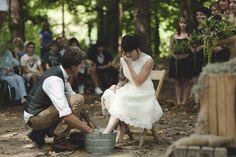 goodrich wedding   feet washing ceremony