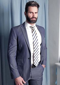 suitedmen - Posts tagged men at play Sharp Dressed Man, Well Dressed Men, Moustache, Smart Styles, Bear Men, Mens Fashion, Fashion Outfits, Fashion Tips, Suit And Tie